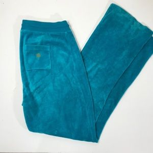 Lilly Pullitzer Blue Velour Track Pants Size Small